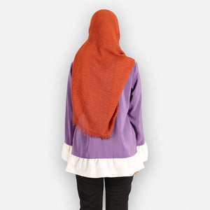 Liya Curvy Basic Blouse (dark purple) - HannahSG