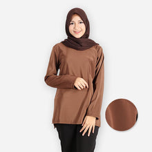 Load image into Gallery viewer, Jessie Basic Blouse (dark brown) - HannahSG