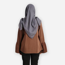 Load image into Gallery viewer, Dafiya Basic Blouse (dark brown) - HannahSG