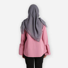 Load image into Gallery viewer, Dafiya Curvy Basic Blouse (pink) - HannahSG
