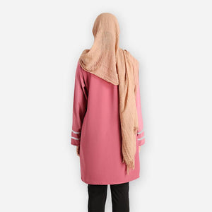 Tasmia Curvy Long Blouse (rose) - HannahSG
