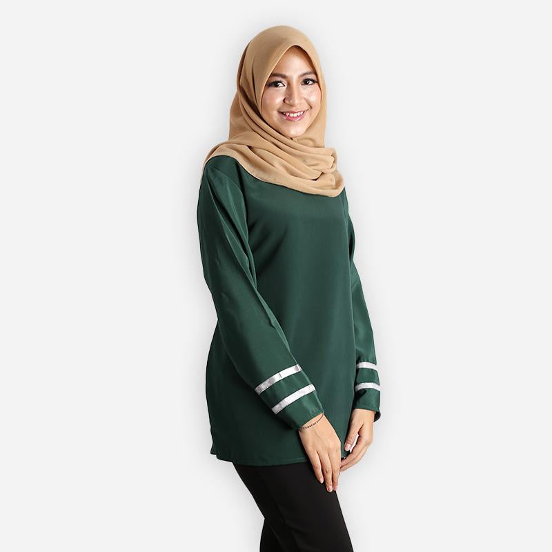 Salina Curvy Basic Blouse (dark green)