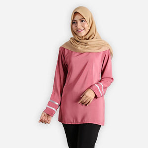 Salina Curvy Basic Blouse (rose)