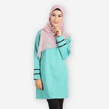 Load image into Gallery viewer, Alleyah Long Blouse (mint green) - HannahSG
