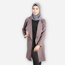 Load image into Gallery viewer, Aisha Curvy Premium Elegant Blazer (dark grey) - HannahSG