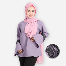 Load image into Gallery viewer, Aabirah Lacey Basic Blouse (lilac) - HannahSG