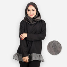 Load image into Gallery viewer, Adiya Ruffled Blouse (black)