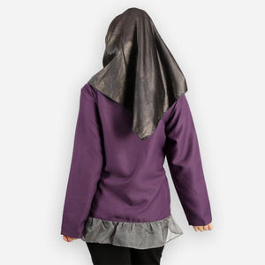 Adiya Curvy Ruffled Blouse (dark purple)
