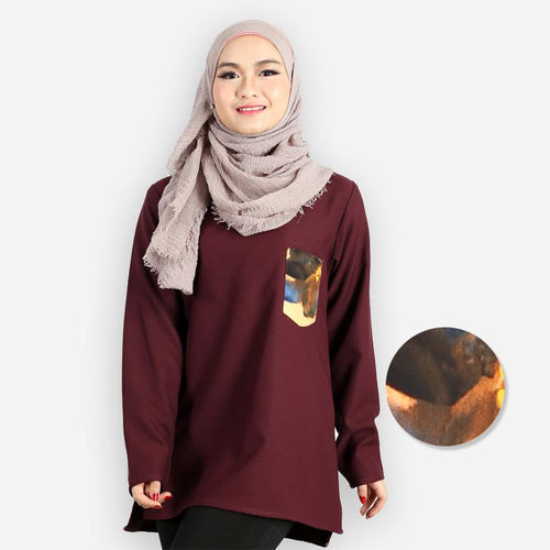 Rida Pocket Blouse (dark brown)