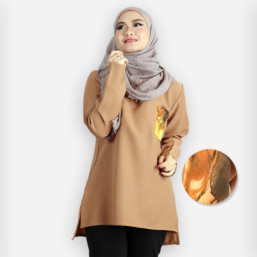 Rida Pocket Blouse (khaki)