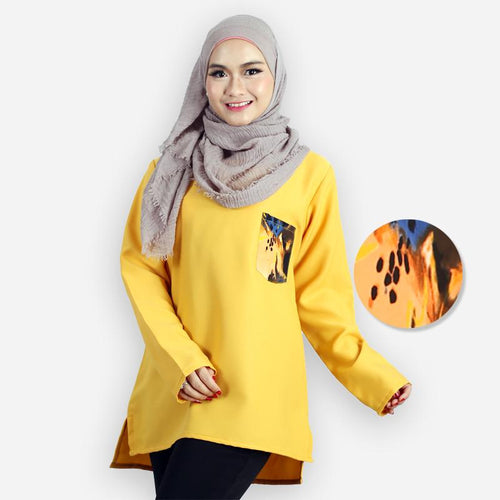 Rida Pocket Blouse (yellow)