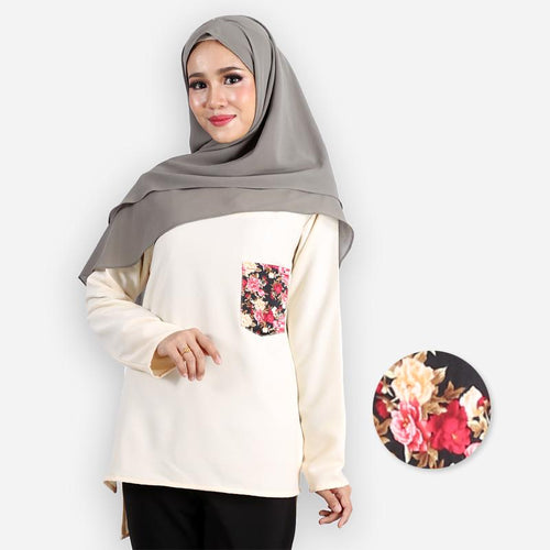 Kashifah Pocket Blouse (beige)