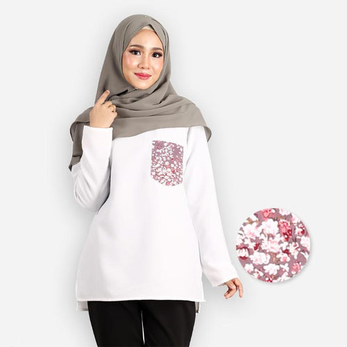 Shahnaz Basic Pocket Blouse (white)