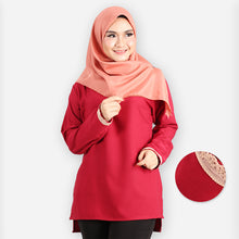 Load image into Gallery viewer, Ayshah Basic Blouse (dark red)