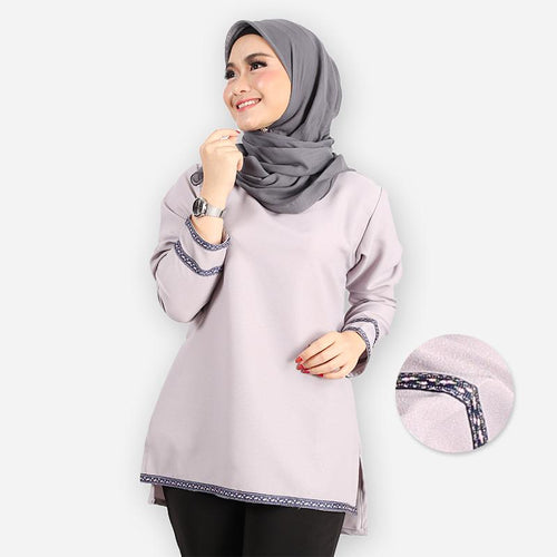Adiba Basic Blouse (light grey)
