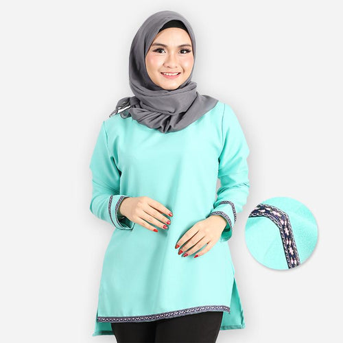 Adiba Basic Blouse (mint green)