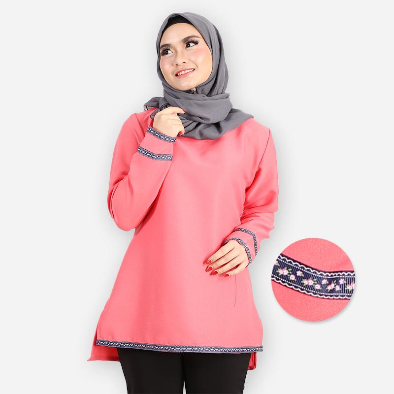 Adiba Curvy Basic Blouse (rose)