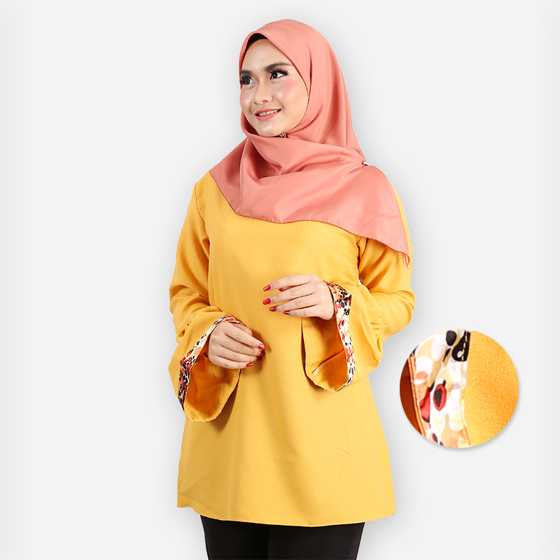 Meela Polka Saloma Blouse (yellow)