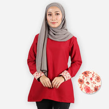 Load image into Gallery viewer, Hazirah Basic Blouse (dark red)