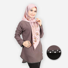 Load image into Gallery viewer, Damia Polka Blouse (dark grey)