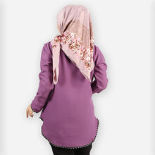 Load image into Gallery viewer, Damia Polka Blouse (dark purple)