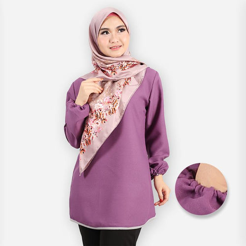 Delima Curvy Basic Blouse (dark purple)
