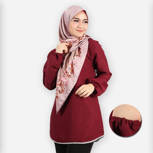 Delima Basic Blouse (dark red)