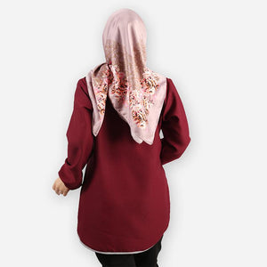 Delima Curvy Basic Blouse (dark red)