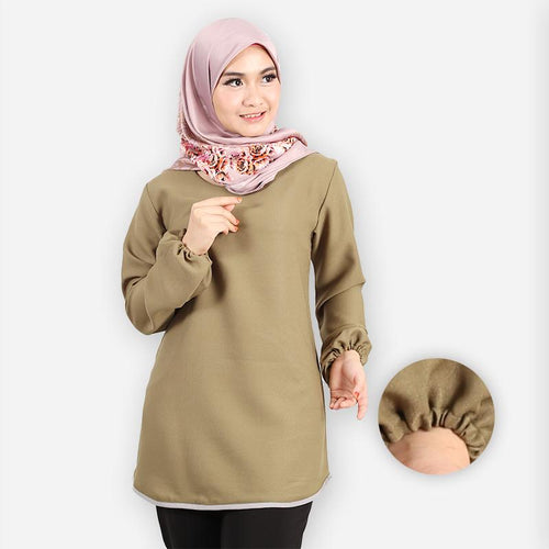 Delima Curvy Basic Blouse (green)