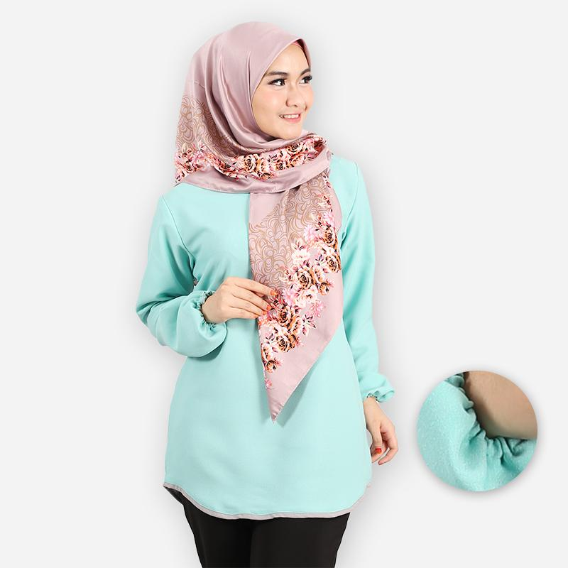 Delima Basic Blouse (mint green)