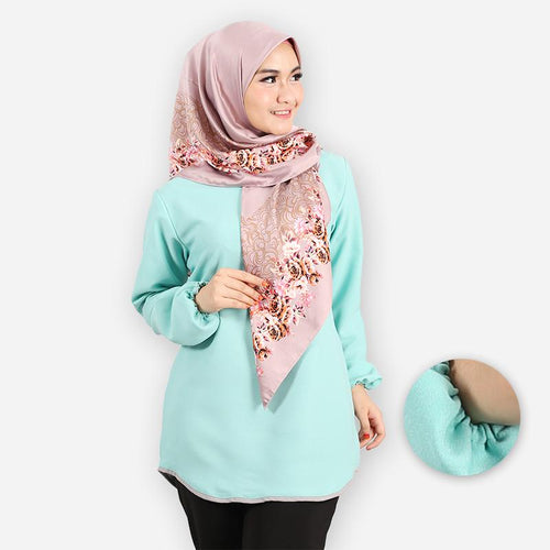 Delima Curvy Basic Blouse (mint green)