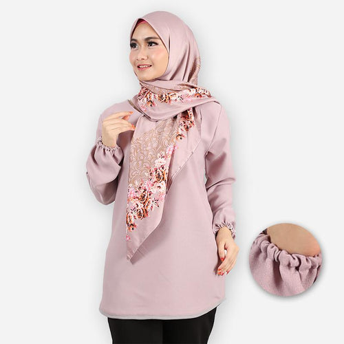 Delima Curvy Basic Blouse (purple)