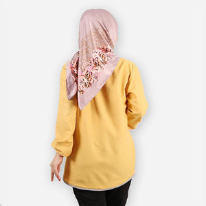 Delima Curvy Basic Blouse (yellow)