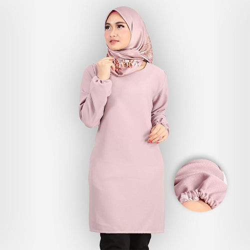 Riyana Curvy Basic Long Blouse (purple)