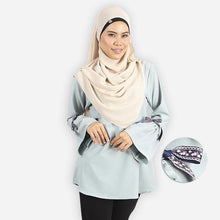 Load image into Gallery viewer, Kafiyah Ribbon Blouse (turquoise)