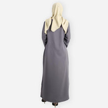 Load image into Gallery viewer, Layla Premium Jubah (dark grey)