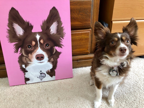 Hot Pink Pet Art