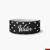 Black Polka Dot Water Bowl