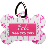 Pink Palm Tree Luv Tag