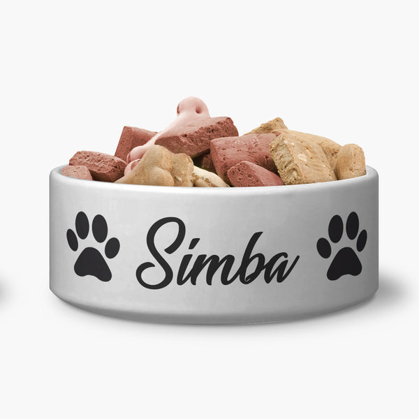 Custom White Luv Food Bowl