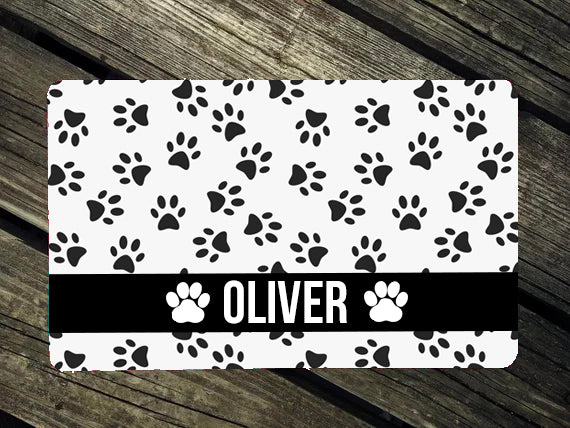 Black Paw Luv Dog Mat