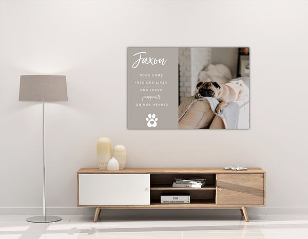 Paw Print Luv Canvas