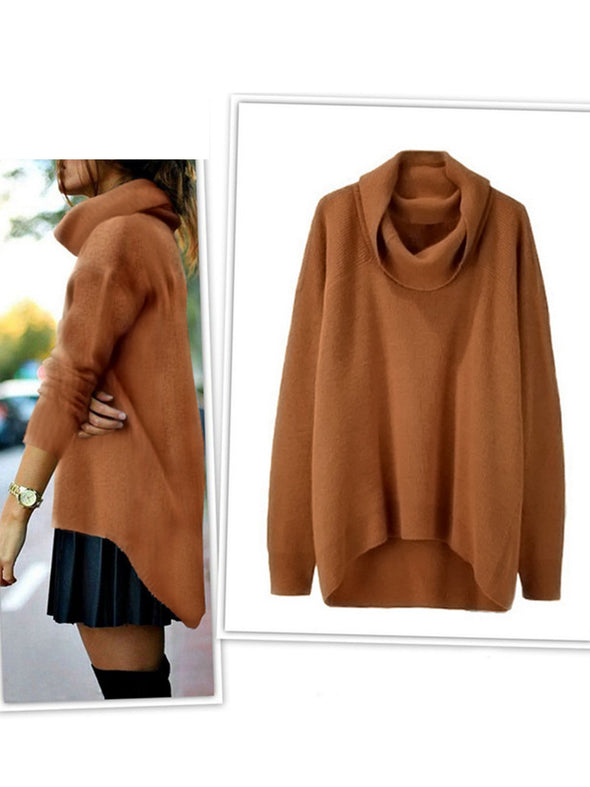 Casual Long Sleeve Solid Knitwear