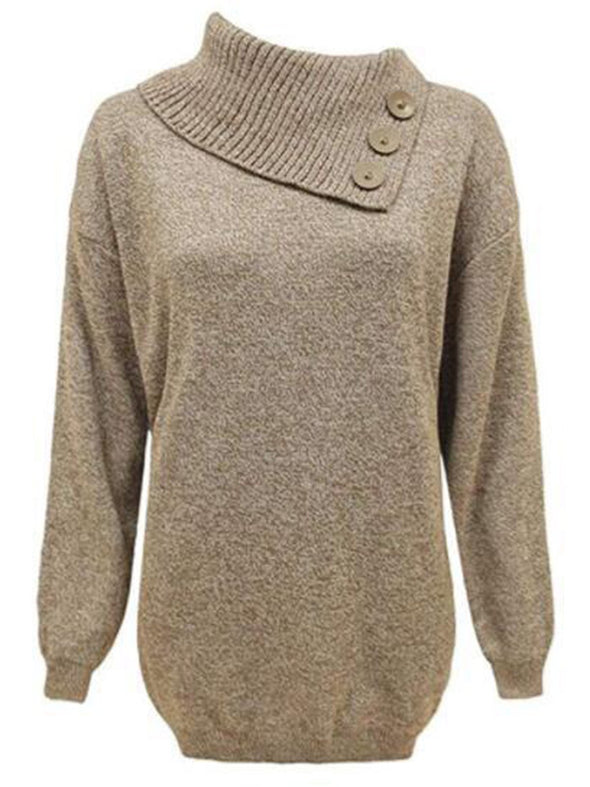 Solid Casual Shawl Collar Sweatshirt