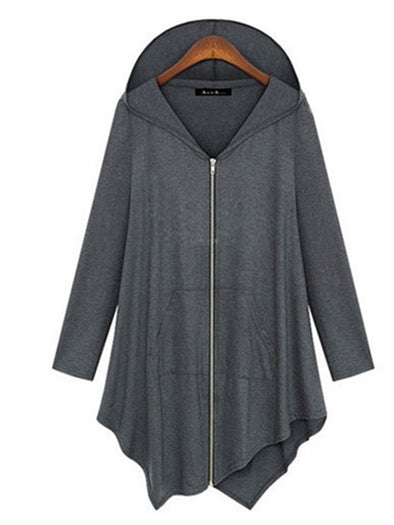 Solid Casual Long Sleeve Zipper Outerwear