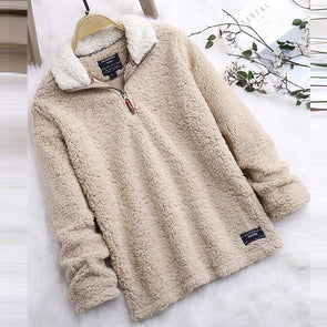 Long Sleeve Stand Collar Casual Knitwear