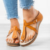 Wedge Heel Summer Buckle Shoes