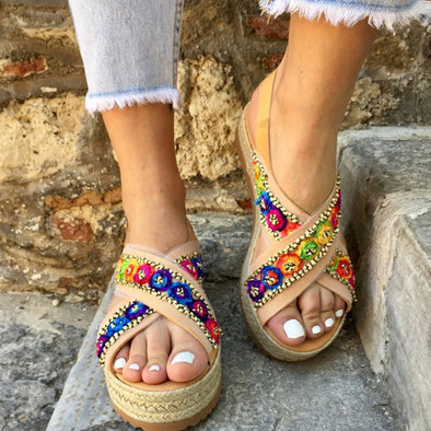 Multicolor Summer Pu Daily Shoes