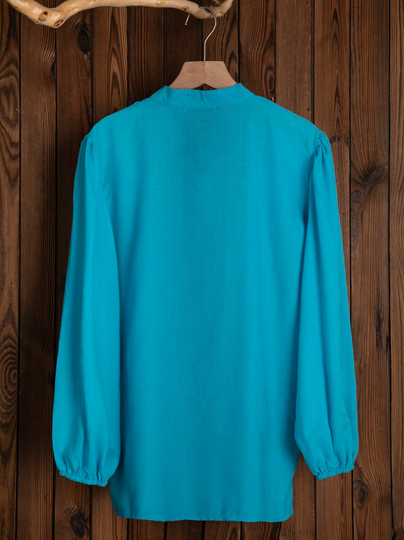 V Neck Casual 3/4 Sleeve Plain Tops