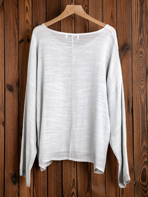 Long Sleeve Cotton Vintage Tops
